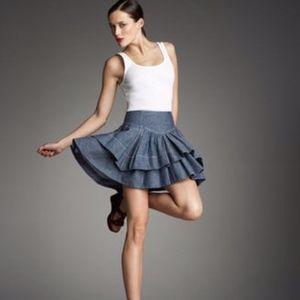 ANTHROPOLOGIE Leifsdottir Chambray Tiered Skirt